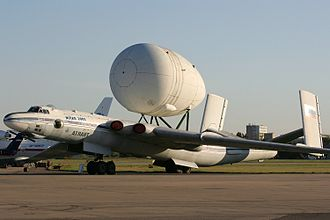 Myasishchev VM-T - VM-T with Energia main oxygen tank at the Zhukovsky Air Show in 2005