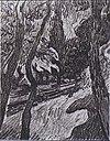 Van Gogh - Bäume und Figur vor dem Hospital Saint-Paul.jpeg