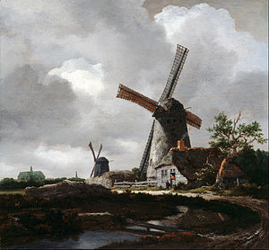Jacob van Ruisdael - Landscape with Windmills near Haarlem (1651) by Jacob van Ruisdael