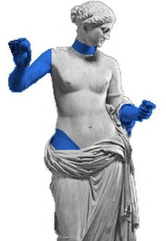 Venus of Arles - Restorations indicated in blue