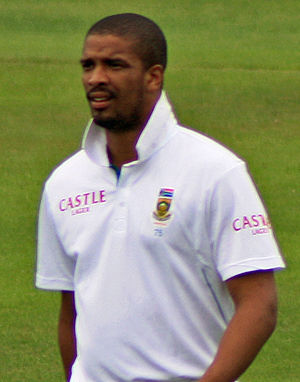 Vernon Philander - Philander playing for South Africa against Somerset in 2012.