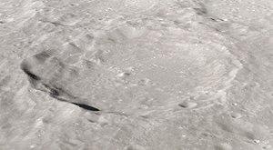 Vesalius (crater) - Oblique view from Apollo 12