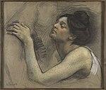 Victor Prouvé Etude de femme les yeux fermés Petit Palais 29122017.jpg