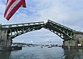 View from boat of Ballard Bridge opening - Seattle 2011.jpg