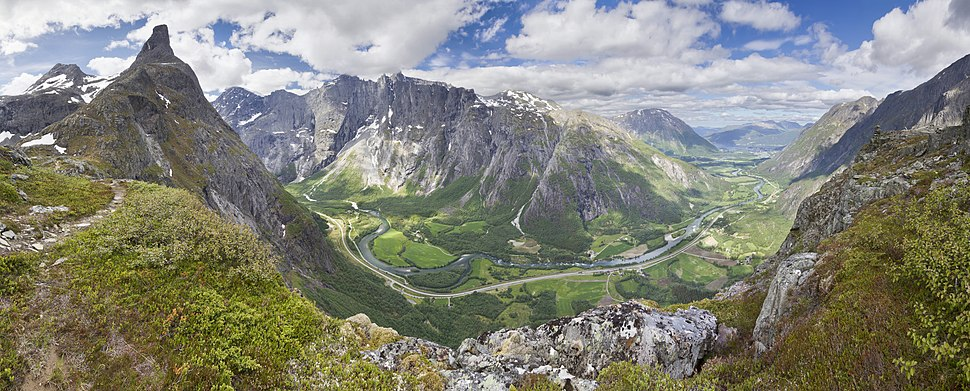 View to Romsdalen from Litlefjellet, 2013 June