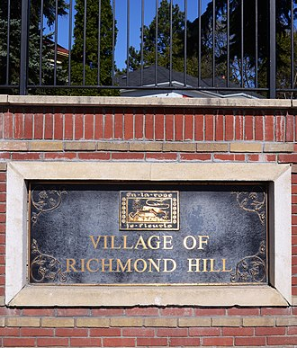 Richmond Hill, Ontario - Village of Richmond Hill, with original logo