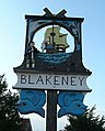 Village sign, Blakeney, Norfolk - geograph.org.uk - 833338.jpg