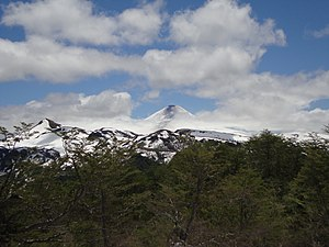 Villarrica National Park - View of Villarrica Volcano from the southeast