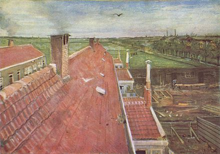 Rooftops, View from the Atelier The Hague, 1882, private collection