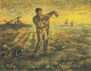 Menard Art Museum - Image: Vincent van Gogh Evening, The End of the Day (after Millet)