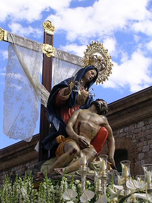 Friday of Sorrows - The Virgin of Charity, a Marian title of the Blessed Virgin Mary celebrated in Cartagena, Spain during the Friday of Sorrows.