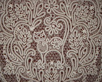 """Russian lace - Fragment of lace """"Lukomorie"""" based on the poem by Pushkin's Ruslan and Ludmila"""