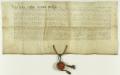 Wójt i ławnicy sądu wyższego prawa magdeburskiego w Krakowi potwierdzają dokument Przemysła II, określający wysokość świadczeń sołtysa w Jeżycach na rzecz kościoła i wójta poznańskiego..png