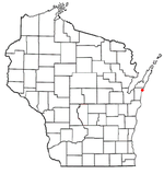Location of Algoma, Wisconsin