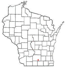 Location of Rutland, Wisconsin