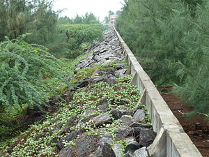 Kalpakkam - Tsunami wall in Kalpakkam
