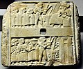 Wall plaque showing libation scene from Ur, Iraq, 2500 BCE. British Museum.jpg