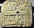 Wall plaque showing libation scene from Ur, Iraq, 2500 BCE. British Museum.jpg