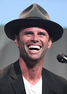 Goggins at the 2015 San Diego Comic-Con International promoting The Hateful Eight