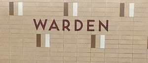 Warden station - Image: Warden Station Wall Tiles TTC