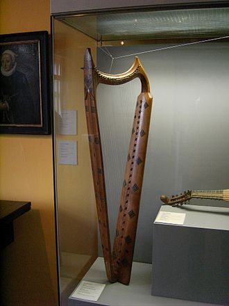 Harp - A medieval European harp (the Wartburg harp) with buzzing bray pins.