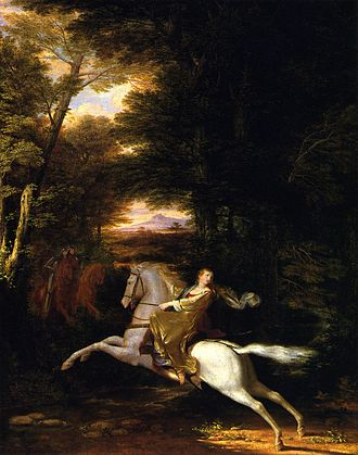 The Faerie Queene - Florimell's Flight by Washington Allston