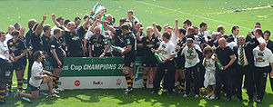 European Rugby Champions Cup - London Wasps celebrate after winning the 2006–07 Heineken Cup