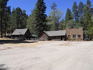 Cedar Lake (California) - Amish log cabins. About 125 years old. Procured by the movie industry and moved to the lake