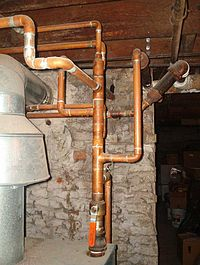 Plumbing wikipedia for Pex vs copper main water line