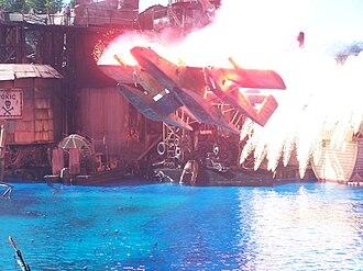 Waterworld: A Live Sea War Spectacular - Seaplane crash landing