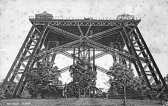 Wembley Park tube station - The first and only completed stage of Watkin's Wembley Tower (c.1900)
