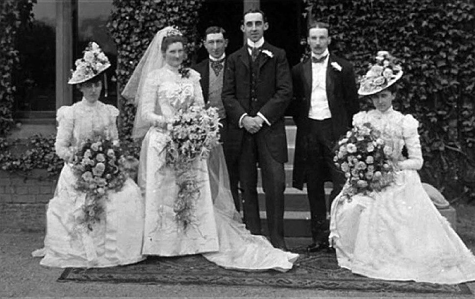 Wedding Bertha Greenall 1898