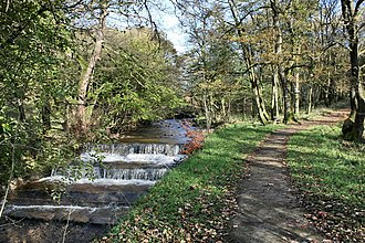 River Calder, Wyre - Image: Weir and Path Above Calder Vale geograph.org.uk 1032463