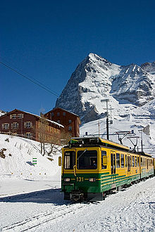 Un treno della Wengernalpbahn