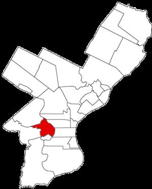 West Philadelphia Borough, Pennsylvania - Image: West Philadelphia Dist 1854