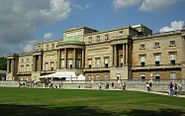 West facade of Buckingham Palace