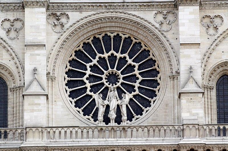 File:West rose window of Notre-Dame de Paris 2009.jpg