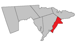 Location within Westmorland County, New Brunswick.