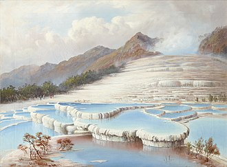 Pink and White Terraces - Image: White Terraces Blomfield