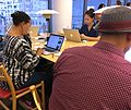 Wiki Loves Pride with Black Lunch Table @ MoMA Library 01.jpg