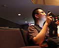 Wikimania 2012 - Shujenchang taking photos.JPG