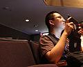 Wikimania 2012 - Shujenchang taking photos.JPG