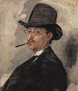 Wilhelm Leibl - Porträt des Malers Carl Schuch (1876)