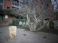 William Blake's grave with flower.jpg