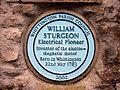 William Sturgeon plaque, Whittington (geograph 2257100).jpg