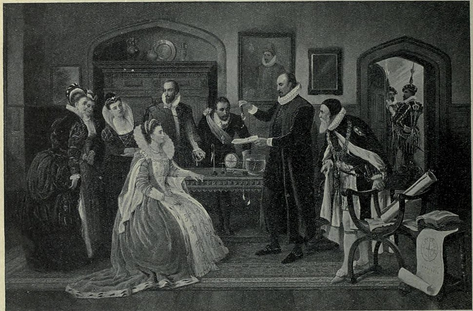 Willian Gilbed M.D. demonstrating his experiments before queen Elizabeth A. Auckland Hunt