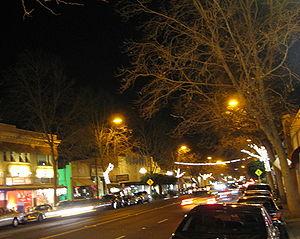 Willow Glen, San Jose - Lincoln Avenue at night
