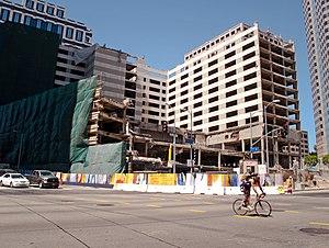Wilshire Grand Center - Wilshire Grand Hotel demolition, 2013