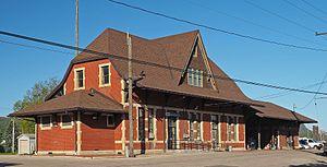 Winona station - Winona station from the northeast