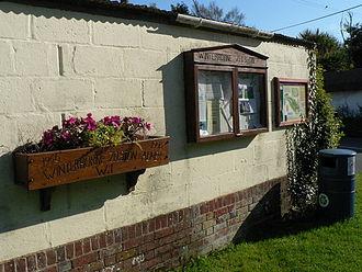 Winterborne Zelston - Village noticeboard at Winterborne Zelston